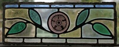 Victorian Painted Antique Stained Glass Window