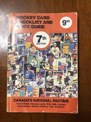 1987 Hockey Tarjetas Checklist & Price Guide - 7th Edición - By Andrew