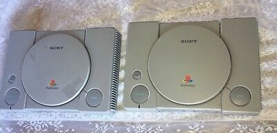 2 Sony PlayStation 1 PS1 Console Lot SCPH-5501 & 9001 for Parts or Repair!