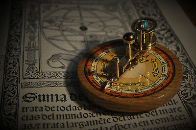 Solid Brass and Wood Miniature Orrery Paradox Earthglobe Planetarium Astronomy
