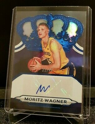2018-19 Crown Royale MORITZ WAGNER Lakers Rookie Auto BLUE /49 RC