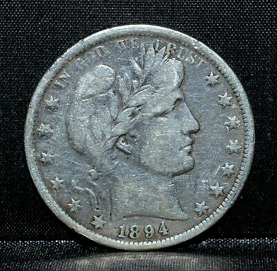 1894-P Barber Half Dollar ✪ Vf Very Fine Details ✪ 50C Silver Cleaned ◢Trusted◣