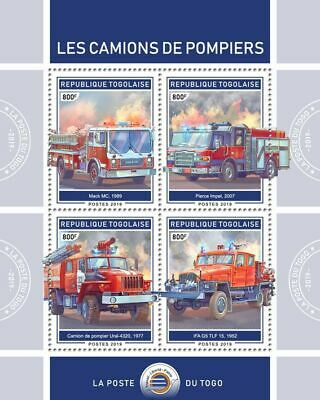 Z08 Imperf Tg190118a Togo 2019 Fire Engines MNH Mint