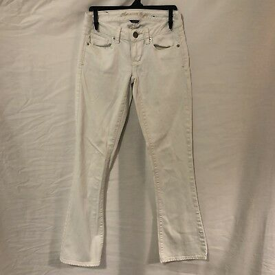 e9b01fb6d9b560 American Eagle Outfitters Womens 00 Jeans Skinny Kick Stretch White Sparkly
