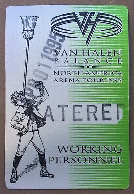 VAN HALEN Balance Arena Working Crew USED Backstage Pass 4/1/1995 Sammy HAGAR