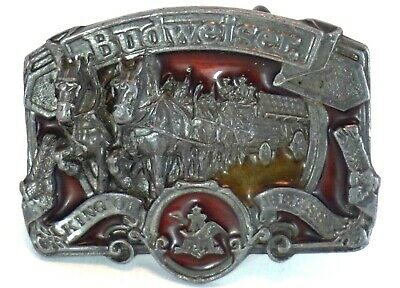 Budweiser Belt Buckle Vintage Horse and Carriage Made USA Vintage Official