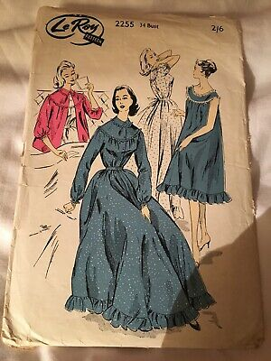 74d72fc22bc VINTAGE 1950 S LE-ROY MATERNITY NIGHTDRESS SEWING PATTERN - £4.99 ...
