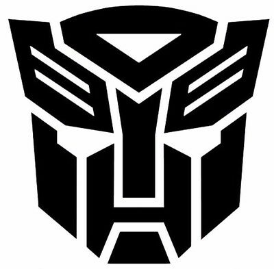 Transformers Autobots Glitter Vinyl Die Cut Stickers Decals Small to Large Sizes