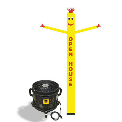 Open House Air Inflatable Sky Puppet Great Dancer -20FT Yellow + 3/4 HP Blower