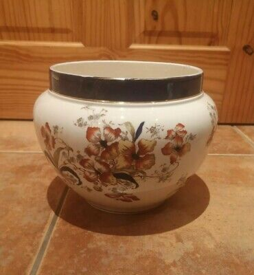 "Vintage Jardiniere / Planter KEELING & CO Late Mayers ""Orchid"" Pattern - Antique"