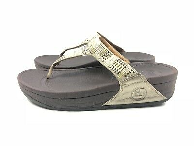 fb4dc4c3c FITFLOP WOMAN S SURFA STONE RAINY DAY Lilac Wht Striped Sandal 6 ...