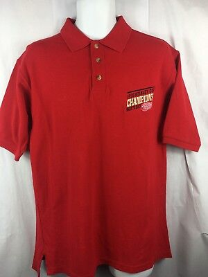 b271c98c1f5 Men NHL Detroit Red Wings 1998 Stanley Cup Champions Polo Golf Shirt Size  Medium