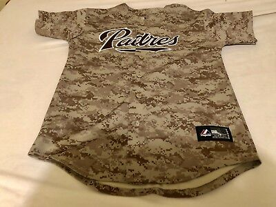 finest selection df196 76089 MLB SAN DIEGO Padres Majestic Camo Jersey Size Youth Large (Used)