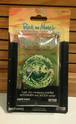 New 2018 Rick And Morty Cryptozoic Season 1 2 Pack blister trading cards 10 card