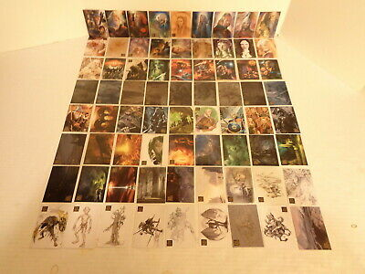 2008 Topps Lord of the Rings Masterpieces 2 II Commplete 72 Trading Card Set