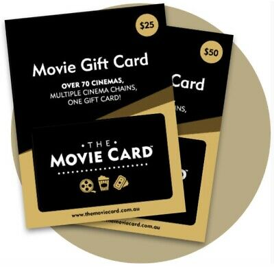 The Movie Card Gift Cards $75 WORTH