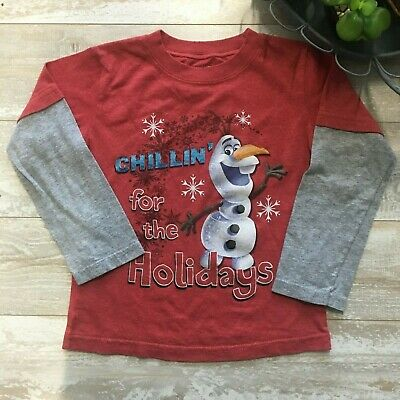0f3a3560b405 FROZEN DISNEY OLAF Sven Kristoff Orange T Tee SS Shirt Toddler Boys ...