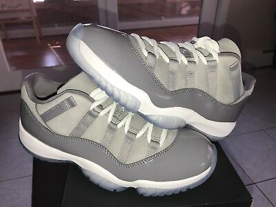 the best attitude c9a45 195e1 NIKE AIR JORDAN XI Retro 11 Low Cool Grey 528895-003 MEN'S SZ 7.5 READY TO  SHIP