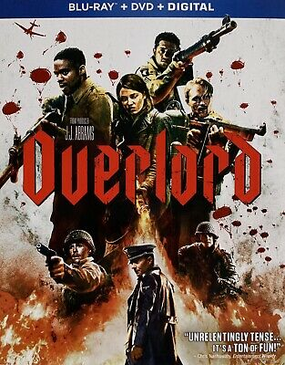 OVERLORD ~ Blu-Ray + DVD + Digital *New *Factory Sealed