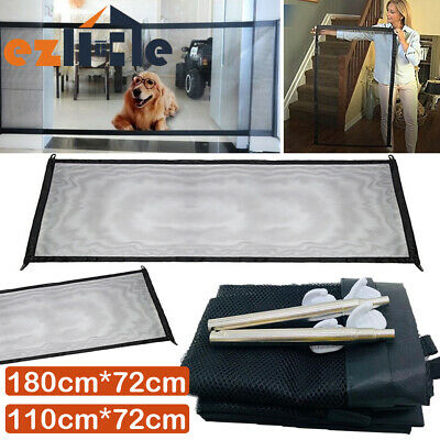 Mesh Anywhere Safety Enclosure Guard&Install Safe Magic Pet Dog Gate Barrier
