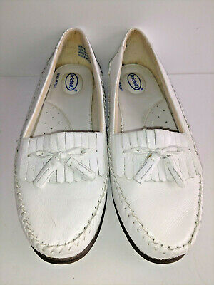 38043aa1d3b DR SCHOLLS Air-Pillo Insoles Womens White Leather Loafers Shoes Size 8.5 M