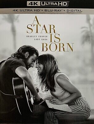 A STAR IS BORN ~ 4K ULTRA HD + Blu-Ray + Digital *New *Factory Sealed