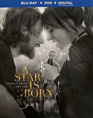 A STAR IS BORN ~ Blu-Ray + DVD + Digital *New *Factory Sealed