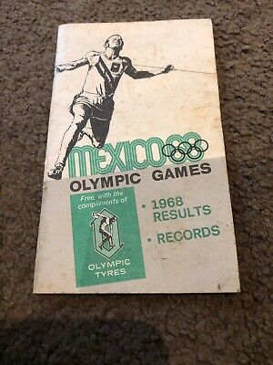 Olympic Games Mexico 1968 Book Results Records Sport