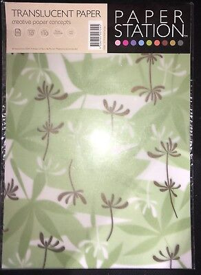 "10 SHEETS  ""PALM SPRINGS"" TRANSLUCENT PAPER 110 gsm Craft & Scrapbooking"