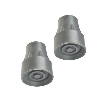 2x Crutch Tips, 22mm, Pair, Hard Rubber Compound, Free shipping