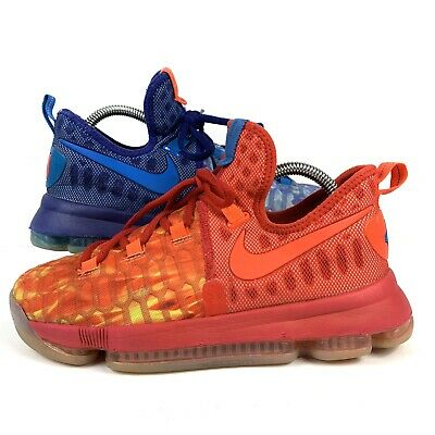 2a3b9e29948 NIKE ZOOM KD 9 Fire And Ice Size 4.5 Y Boys Girls Basketball Shoes ...