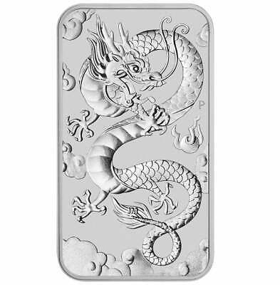 2019 Dragon 1oz .9999 Silver Bullion Rectangular Coin - The Perth Mint