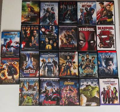 Pick 10 From 20 Marvel Lot DVD Avengers 123 Venom Hulk Ant-man and the Wasp etc.