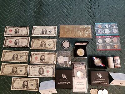 US Paper Money, Currency, Silver And Gold Coins Circulated and Non! $High End$
