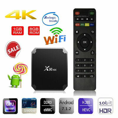 X96mini Android 7.1.2 TV Box 1GB/8GB S905W Quad Core 4K HD WiFi Media Player