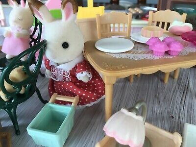 Sylvanian Families Furniture And Other Assorted Dolls House Furniture