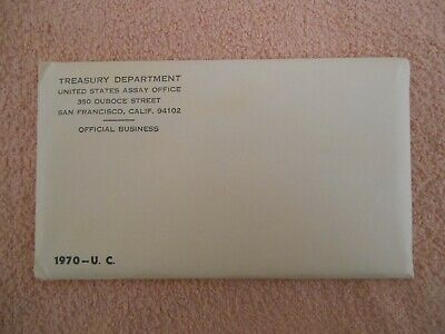 1970 U.S. MINT SET. ISSUED BY US MINT. Envelope Unopened