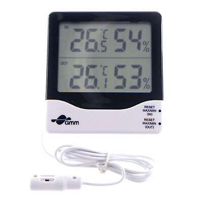 Digital 2-Channel Indoor Outdoor Thermo Hygrometer Temperature Humidity Sensors