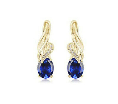 Solid 14KT White Gold 2.35Ct Natural Blue Tanzanite EGL Certified Diamond Studs