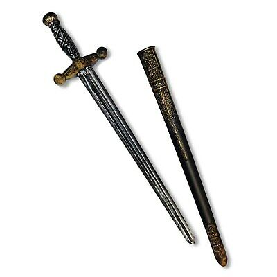 Black Bronze Medieval Knight Sword Sheath Set Costume Accessory Plastic Toy