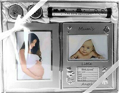 BABY BOY OR GIRL Photo Frame & Gift Set - Baby Shower Gift Newborn Keepsake