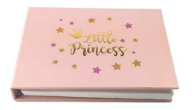 Baby Girl Photo Album 6x4 LITTLE PRINCESS Shower Birthday Gift Newborn Keepsake