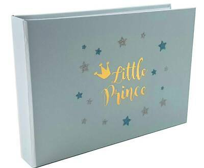 Baby Boy Photo Album 6x4 LITTLE PRINCE Shower Birthday Gift Newborn Keepsake