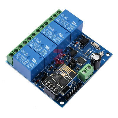 12V 4 Channel ESP8266 ESP-01 WiFi Relay Module For IOT Smart Home Mobile APP