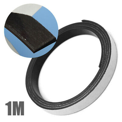 1M 12mm Self Adhesive Rubber Magnetic Tape Flexible Crafts Sticky Magnet Strip
