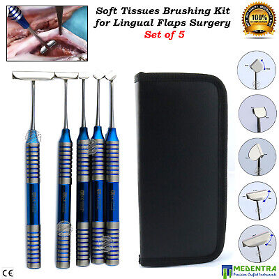 Soft Brushing Kit Lingual Oral Flaps Surgery Dental Implant Surgical Instruments