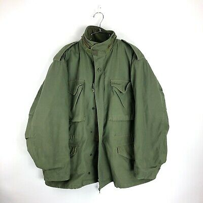 e5327ac4a33a5 Alpha Industries M65 Field Jacket with Quilted Liner Size Large Mens Olive  USA