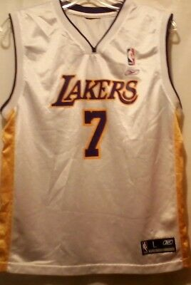 368a4257b52a Los Angeles LA NBA Lakers Lamar Odom 7 Jersey Youth Large Authentic Reebok
