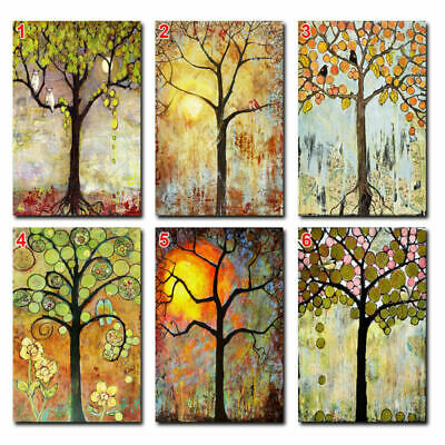 Unframed Modern Art Oil Painting Print Canvas Picture Home Wall Room Tree Decor