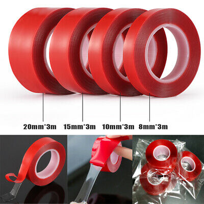 3M Transparent Double Sided Adhesive Tape Household Wall Hangings Glue Car Stick